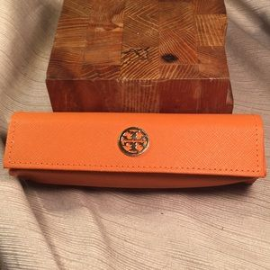 Tory Burch orange sunglasses case